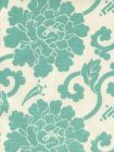 8230-03 FLORALS Turquoise on Tint Quadrille Fabric