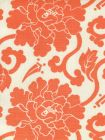 8230-07 FLORALS Orange on Tint Quadrille Fabric