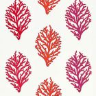 GW 0001 27204 CORAL REEF EMBROIDERY Passion Fruit Scalamandre Fabric