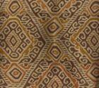 009833T INCA Multi Orange Gold Brown Quadrille Fabric