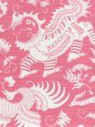 9010-05 INDRAMAYU REVERSE Dark Pink on White Quadrille Fabric