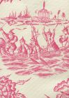 306253F ROYAL JOURNEY II Magenta on Tint Quadrille Fabric