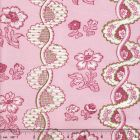 2440-03 TOILE RAYURE DE VIZILLE Rose Quadrille Fabric