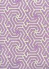 2520-04OWP MAZE REVERSE TWO COLORS Lilac Purple Quadrille Wallpaper