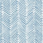 AP303-1 PETITE ZIG ZAG Blue On White Quadrille Wallpaper