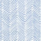 AP303-15WWP PETITE ZIG ZAG French Blue On White Quadrille Wallpaper