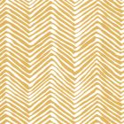 AP303-05PV PETITE ZIG ZAG Inca Gold On White Vinyl Quadrille Wallpaper