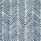 AP303-18W PETITE ZIG ZAG Navy On White Quadrille Wallpaper