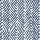 AP303-39PV PETITE ZIG ZAG New Navy On White Vinyl Quadrille Wallpaper