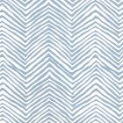 AP303-09 PETITE ZIG ZAG Slate Blue On Almost White Quadrille Wallpaper