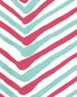 AP950-11 ZIG ZAG MULTI COLOR Turquoise Fuschia On Almost White Quadrille Wallpaper