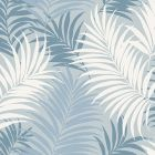 LN10102 Via Palma Blue Frost, Carolina Blue, and Air Force Blue Seabrook Wallpaper