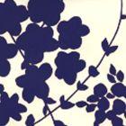 4100-12WP LYSETTE Blue,Beige Quadrille Wallpaper