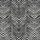 AC303-BLKW PETITE ZIG ZAG Black on Oyster White Quadrille Fabric