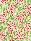 3030-06 TRILBY Jungle Green New Shrimp Quadrille Fabric