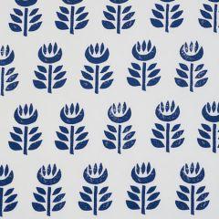179402 ROSENBORG HAND PRINT Navy Schumacher Fabric